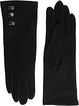 Three-Button Touch Gloves