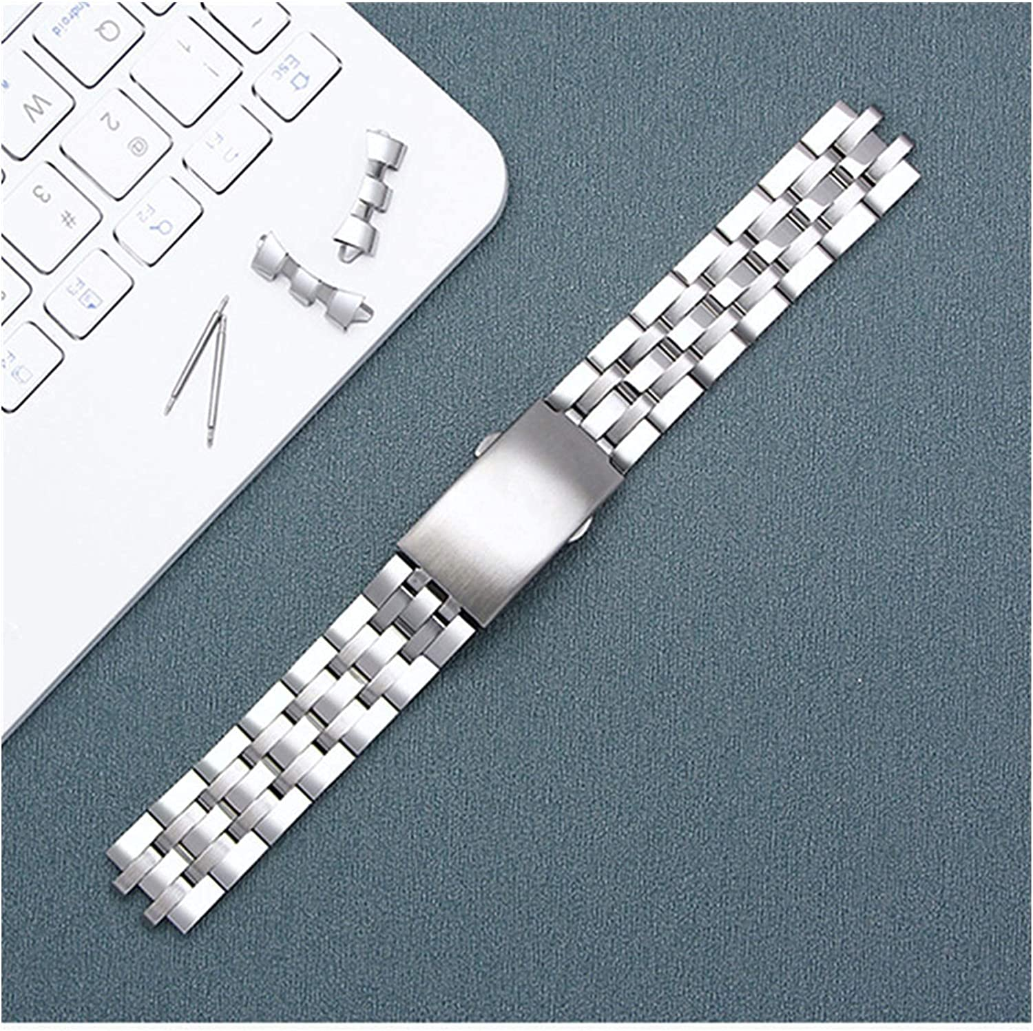 Popular shop is the lowest price challenge ZJSXIA Max 87% OFF Watch Strap 19mm Steel Butterfly Buckle Stainless