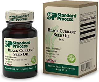 Standard Process - Black Currant Seed Oil - Gamma-Linoleic Acid Supplement, Supports Healthy Skin, Normal Blood Flow, Tissue Repair, and Immune System Function, Gluten Free - 60 Softgels
