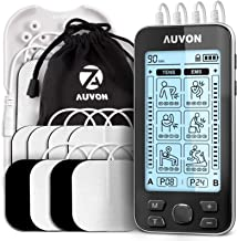 "AUVON 4 Outputs TENS Unit EMS Muscle Stimulator Machine for Pain Relief Therapy with 24 Modes Electric Pulse Massager, 2"" ..."