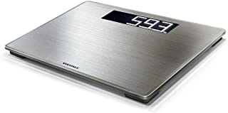 Soehnle Style Sense Safe 300 Stainless Steel Bathroom Scale, digital scale with large weighing surface, weighs up to 180 k...