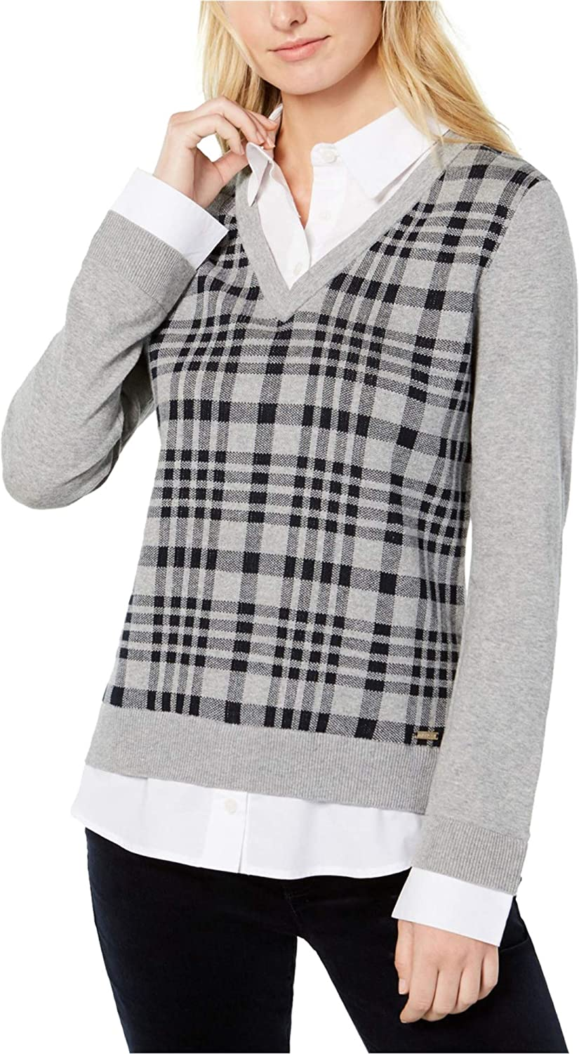 Tommy Hilfiger Womens Layered Look Pullover Sweater