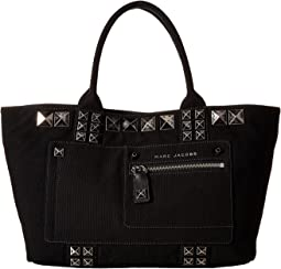 Canvas Chipped Studs Tote
