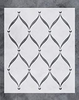 GSS Designs Wall Stencil - Large Trellis Stencil (20x24 Inch) for Painting on Wall Furniture Floor Fabric Stencils -Reusable Template for Wall Decals & Wallpaper & Wall Decor (SL-043)