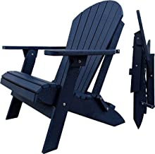 DURAWEATHER POLY Classic King Size Folding Adirondack Chair (Navy)
