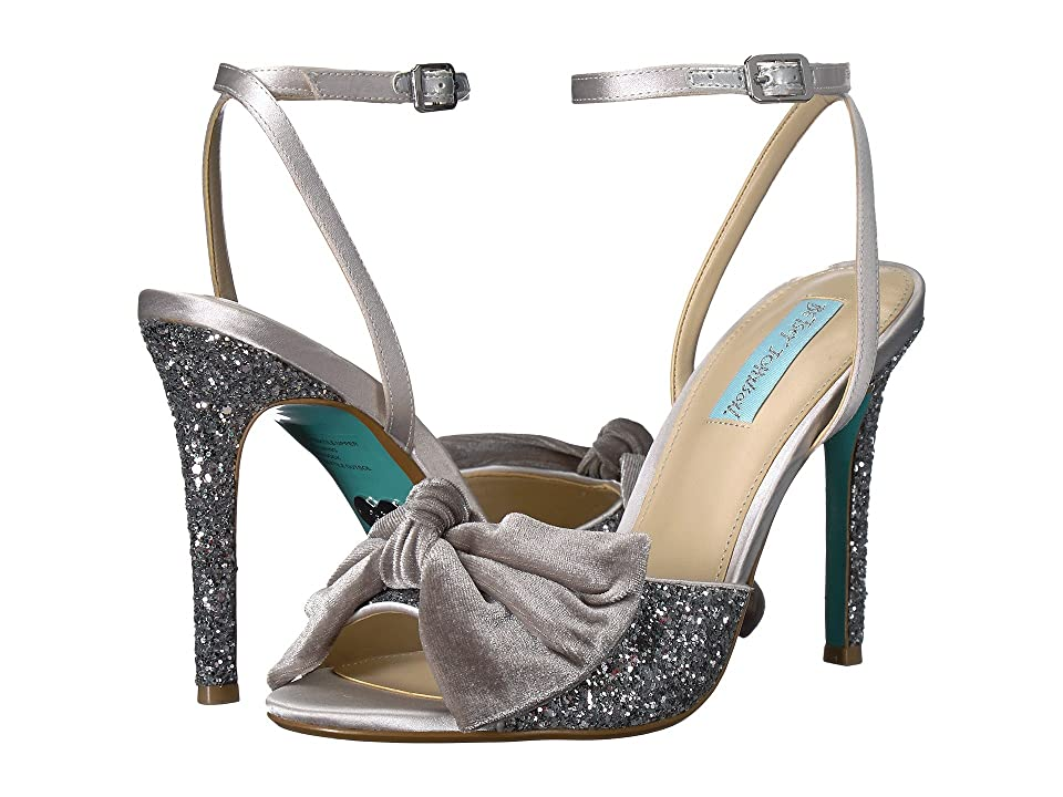 Blue by Betsey Johnson Jilly (Silver Glitter) High Heels