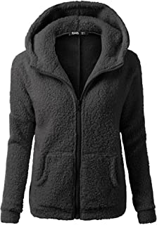 93f92ff2dc SFE Women Winter Faux Fur Hoodie Cotton Jacket Fashion Solid Color Warm Coat  Down Jacket (
