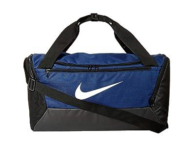 Nike Brasilia Small Duffel 9.0 (Midnight Navy/Black/White) Bags