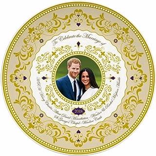 Limited Edition Gold Gilded Prince Harry & Meghan 2018 Royal Wedding Souvenir Ceramic Plate (20cm Diameter)