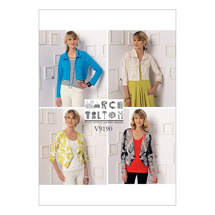 Vogue Patterns V9190B50 Women's Jacket and Drawstring Shrug Sewing Patterns by Marcy Tilton, Sizes 8-16
