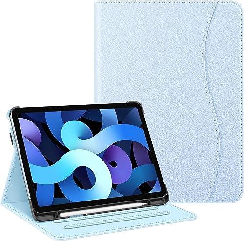 FINTIE Coque pour iPad Air 4ème Génération 2020 10.9 Pouces, Etui Protection Multi Angles Housse avec Poche de Cartes...