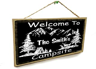 Blackwater Trading Personalized Welcome to Your Name's Campsite 5