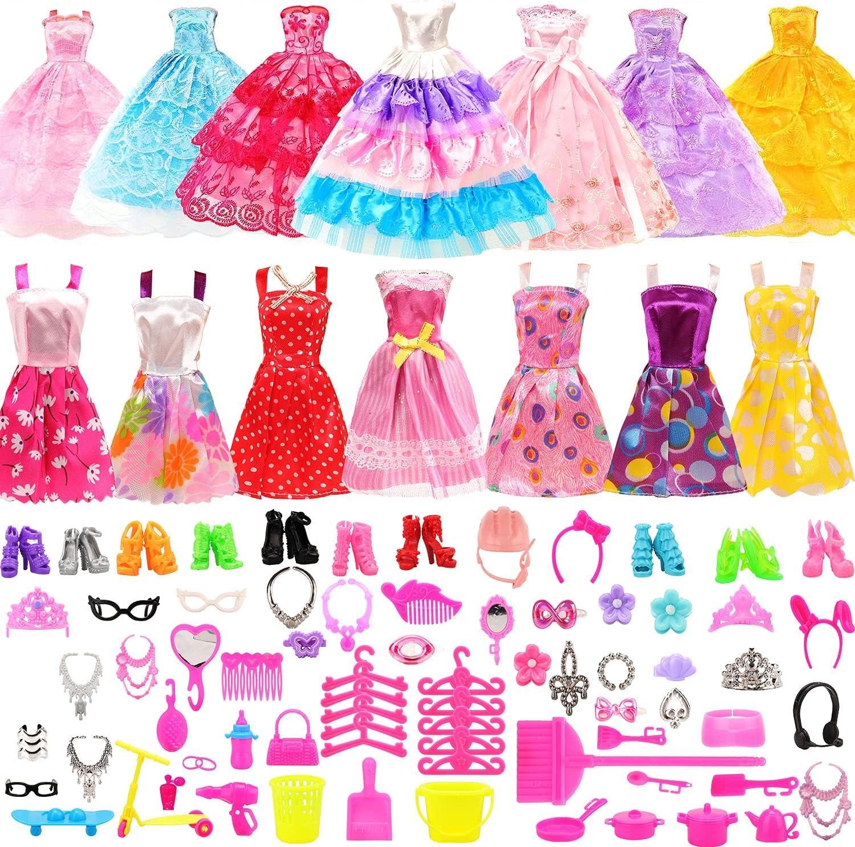 Miunana 125 pcs Doll Fashion Clothes NEW Set for Inc inch 11.5 Ranking TOP9