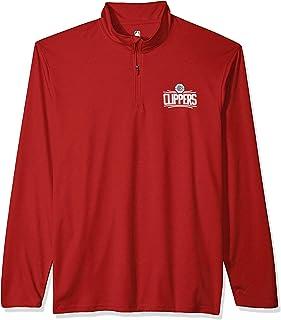 UNK NBA Men's Quarter Zip Shirt Long Sleeve Pullover Tee, Team Color