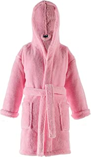 Turquoise Textile Kids Hooded Robe for Boys and Girls