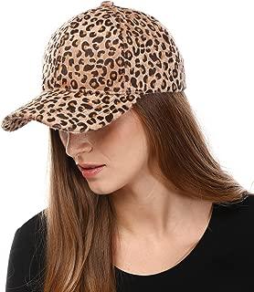 Women Animal Pattern Faux Fur Calf Hair Feel Baseball Cap Hat