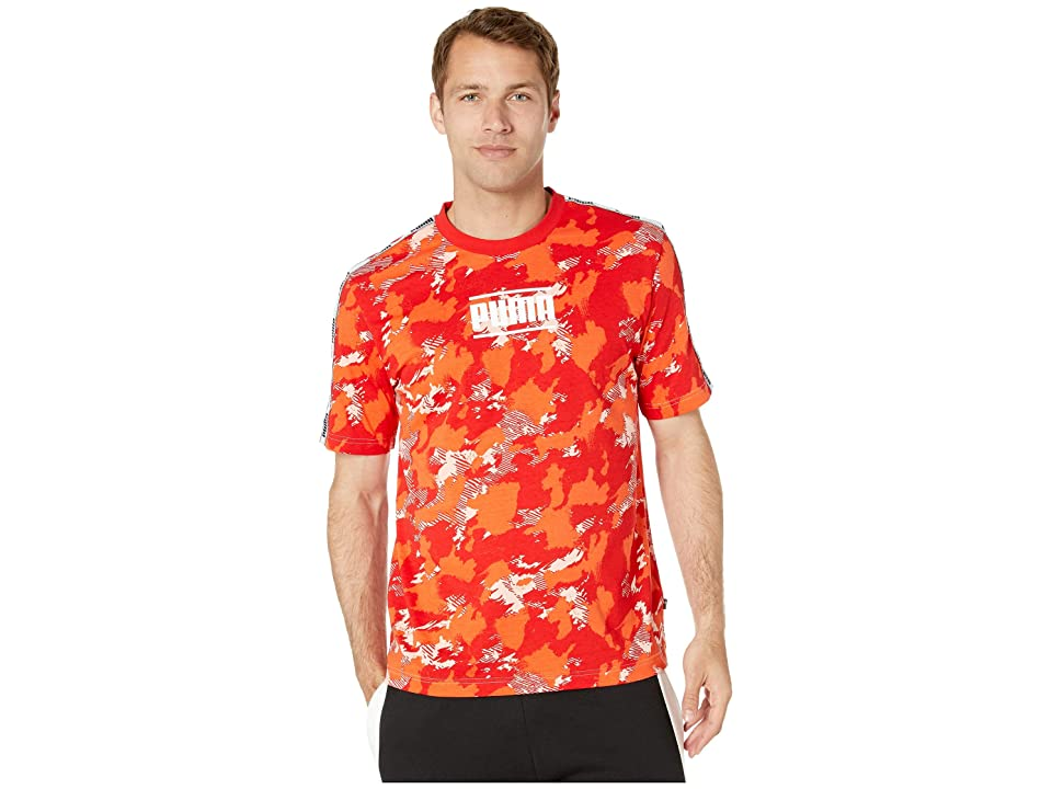 ea9d2382fcb PUMA Camo Pack AOP Tee (Peach Bud AOP) Men s T Shirt