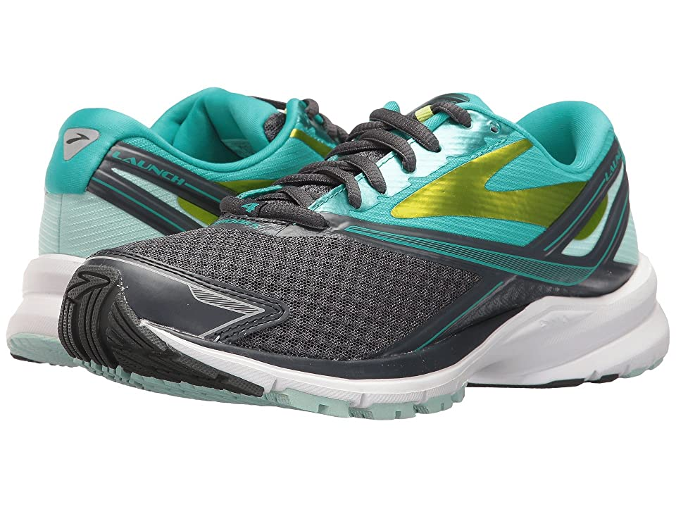 Brooks Launch 4 (Anthracite/Ceramic/Lime Punch) Women