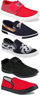 WORLD WEAR FOOTWEAR Sports Running Shoes/Casual/Sneakers/Loafers Shoes for Men Multicolor (Combo-(5)-1219-1221-1140-417-689)
