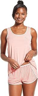 Womens Athletic Short Sleeve Shirt and Pajama Shorts Lounge Sleep Set
