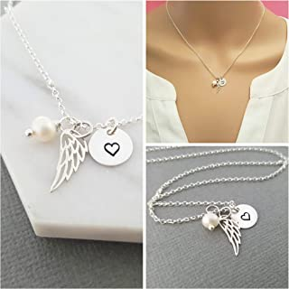 Angel Wing Necklace - Sterling Silver - Memorial Jewelry - Sympathy Gift