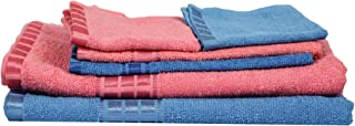 Eurospa Cotton Towel Set 380 GSM (Set of 5, Multicolour)