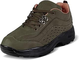 Action Shoes Synergy Men's Mehendi Nubuck Hiking and Trekking Shoes -UK/India 8