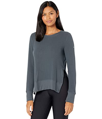 ALO Glimpse Long Sleeve Top (Anthracite) Women