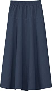 girls maxi denim skirts