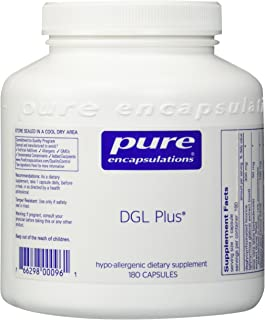 Pure Encapsulations - DGL Plus - Herbal Support for The Gastrointestinal Tract* - 180 Capsules