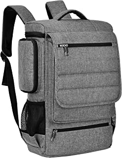 Laptop Backpack,17 Inch Multifunctional Unisex Travel Bags Knapsack,rucksack Backpack Hiking Bags Students School Shoulder Backpacks For 17.3 Inch Laptop Computer,Grey-Black