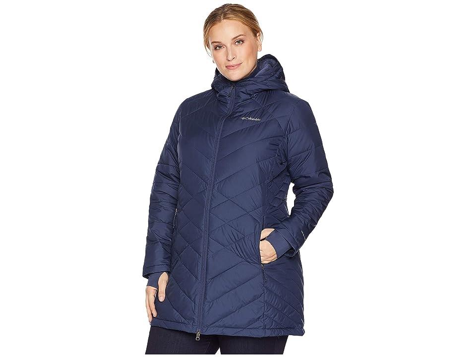 Columbia Plus Size Heavenly Long Hooded Jacket (Nocturnal) Women