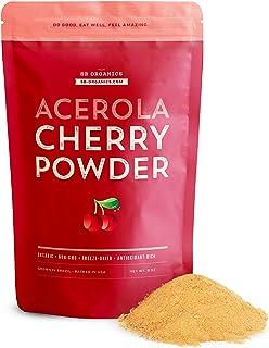 SB Organics Acerola Cherry Powder - 8 oz Bag of Organic Non-GMO Freeze-Dried Powdered Pure Acerola Cherries from Brazil - ...