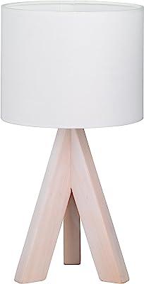 Trio Lighting Ging Lampada da Tavolo E14, 40 W, Bianco
