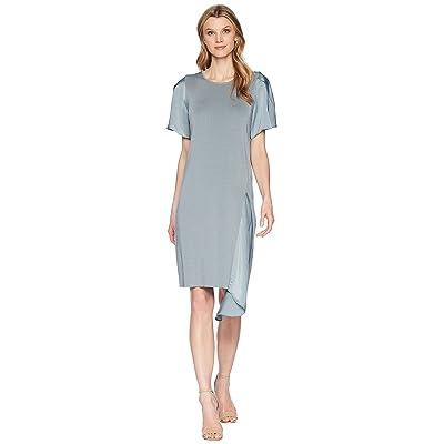 NIC+ZOE Mixed Flutter Dress (Blue Steel) Women