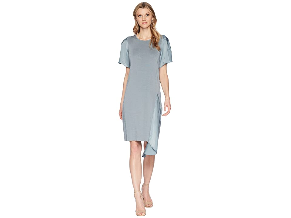 NIC+ZOE Mixed Flutter Dress (Blue Steel) Women