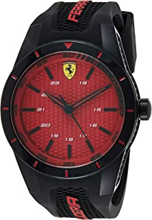Scuderia Ferrari MEN'S RED DIAL BLACK SILICONE WATCH - 830248 0830248