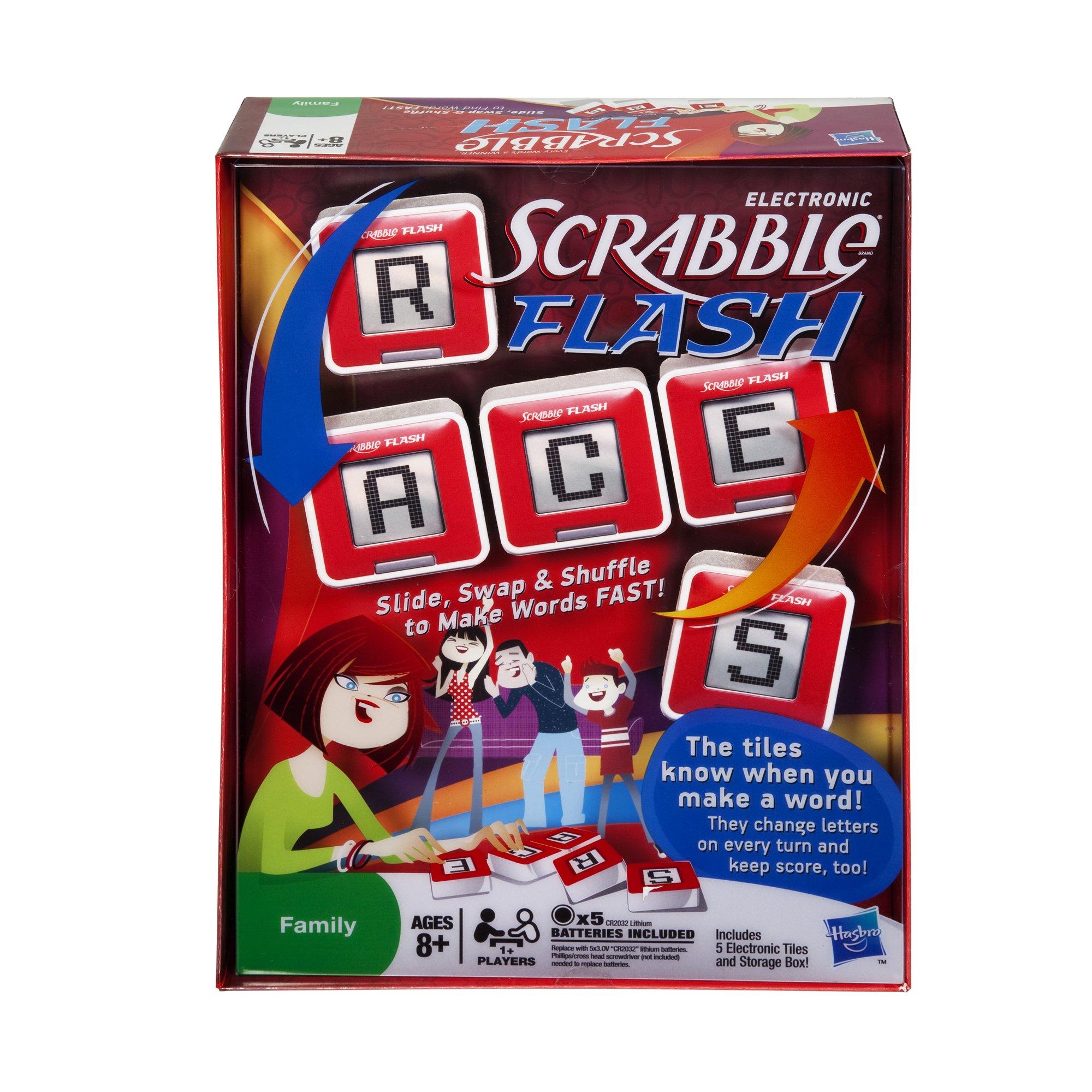 Hasbro - Cubos flash scrabble (versión inglesa): Amazon.es: Juguetes y juegos