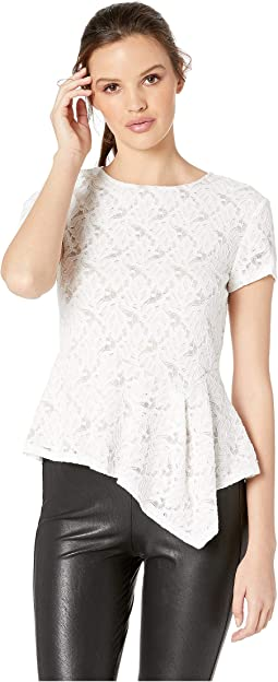 Taj Asymmetric Lace Top