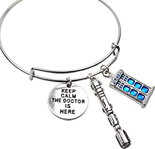 6 Pieces Silver Doctor Who Sonic Screwdriver Metal Charms Who Pendant Dr