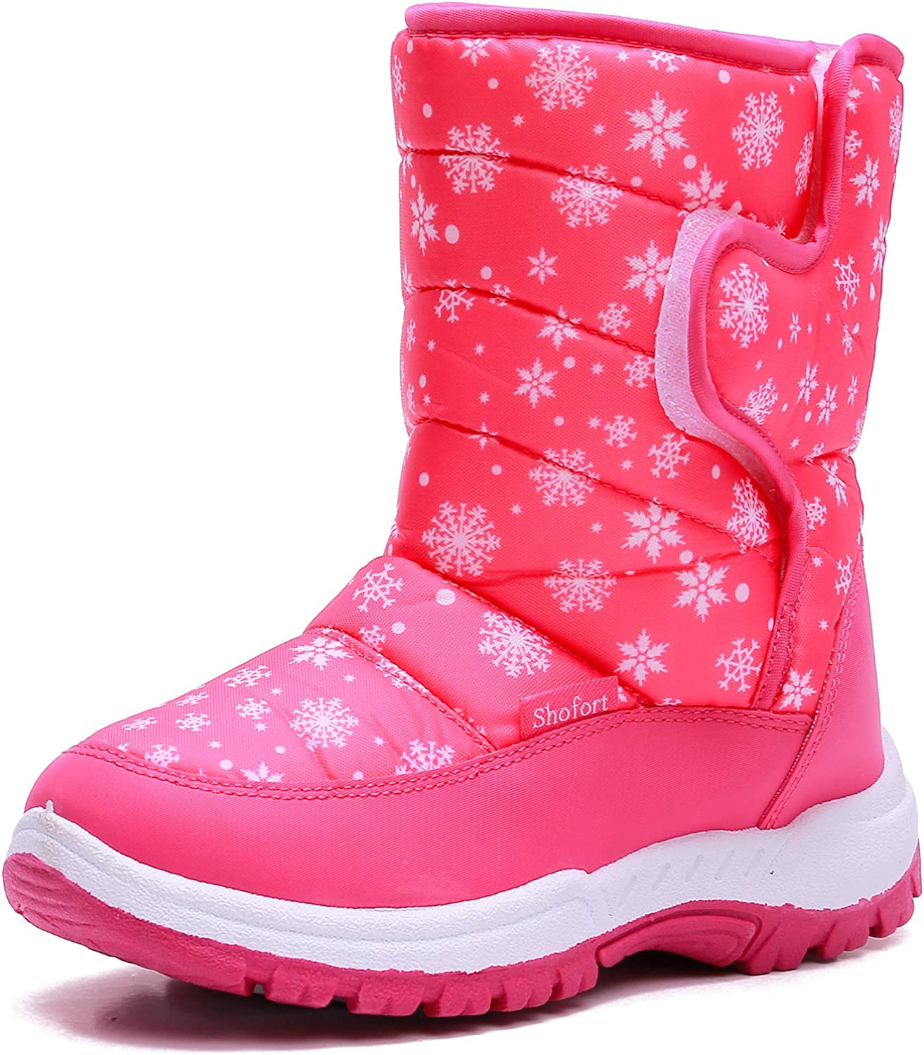 SHOFORT Kids Snow Boots for Boys & Girls Waterproof Insulated Winter Boots with Warm Fur Lined (Toddler/Little Kid/Big Kid)