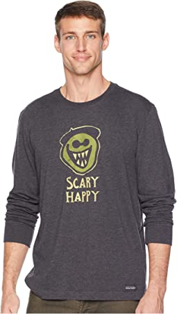 Scary Happy Crusher Long Sleeve T-Shirt