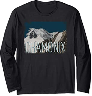Chamonix France Mont Blanc Massif Western Alps Gift Long Sleeve T-Shirt