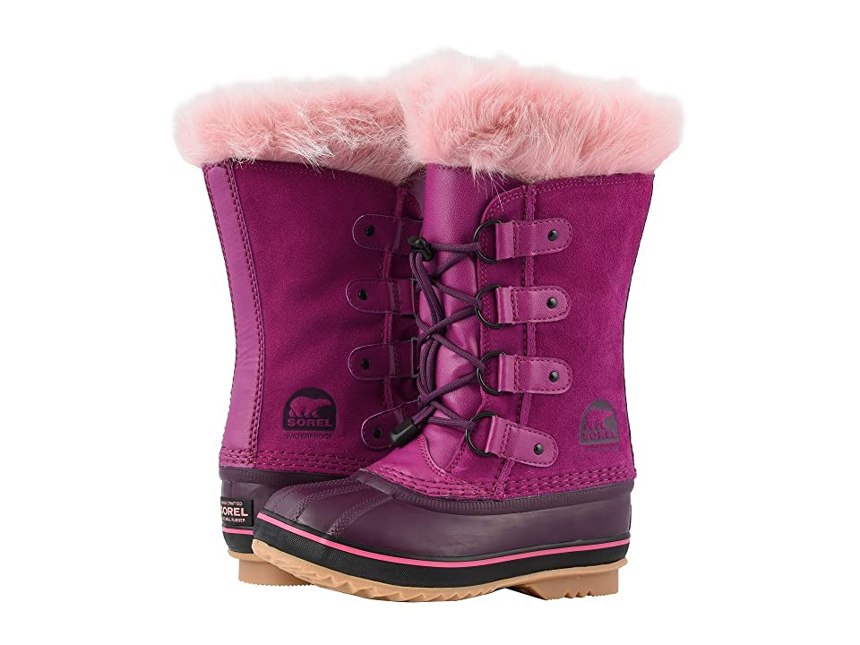 SOREL Kids Joan of Arctic (Little Kid/Big Kid) (Raspberry/Purple Dahlia) Girls Shoes