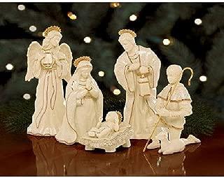Lenox Innocence Nativity 6 Piece Figurine Set Holy Family Lamb Angel Shepherd Boy