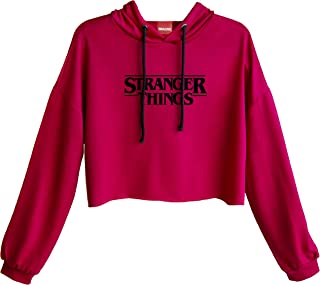 IMAGINE Cropped Hoodie Stranger Things Sudadera Blusa Corta Top Mujer Ombliguera #768