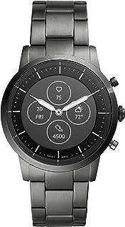 Fossil Collider Hybrid Hr Smartwatch Analog-Digital Black Dial Men's Watch-FTW7009