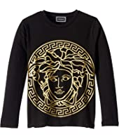 Versace Kids - Long Sleeve T-Shirt with Large Medusa Logo (Little Kids)