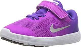 Nike Kids' Revolution 3 (TDV) Running Shoe Violet/Metallic Silver/Hyper Grape, 6 M US Toddler