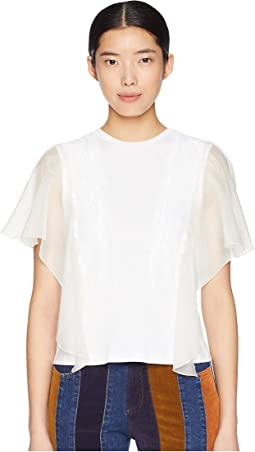 T-Shirt with Lace Overlay